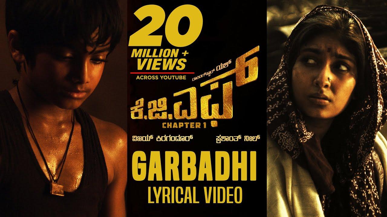 kgf garbadhi song poster