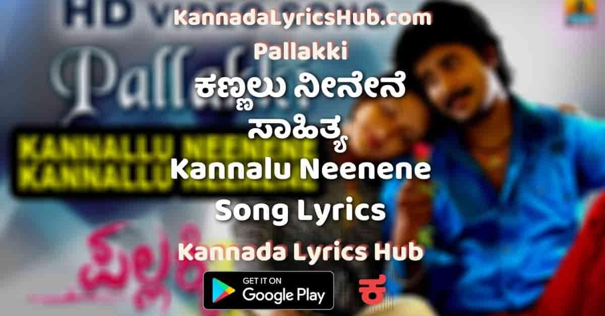 Kannalu Neenene Song Lyrics pallakki